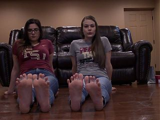 Lost bet to rival team - foot worship POV