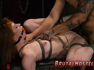 Gang anal brutal and pussy stimulation bondage Sexy