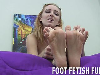 I will make your cock hard with just my feet
