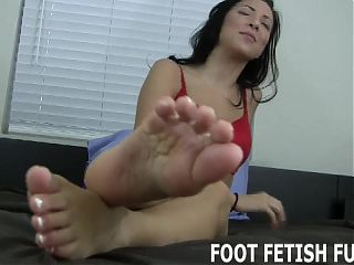 I will excite your big cock with my bare feet