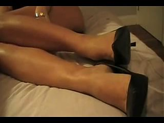 Handjob and footjob combo from my incredibly sexy wife